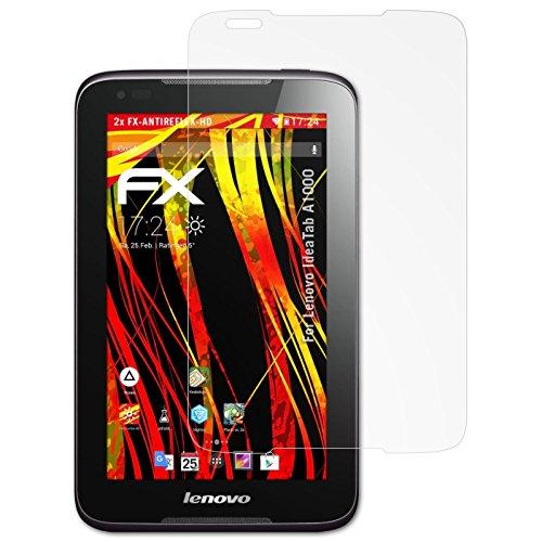 atFolix Schutzfolie kompatibel mit Lenovo IdeaTab A1000 Bildschirmschutzfolie, HD-Entspiegelung FX Folie (2X)