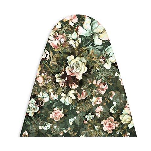 Encasa Homes Bügelbrettabdeckung 'Luxury Line' mit Extra Dickem Pad (passend für Platten mit Einer Länge von 119-124 cm und Einer Breite von 35-40 cm) Rosen