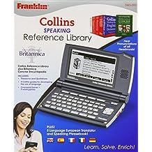 Franklin Collins DMQ-2100 - Dispositivo electrónico con diccionarios, tesauros y enciclopedias, con voz