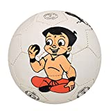#4: Lionbuzz White Chhota Bheem Kids Football - Size 3, Synthetic, 1 Football and 1 Needle