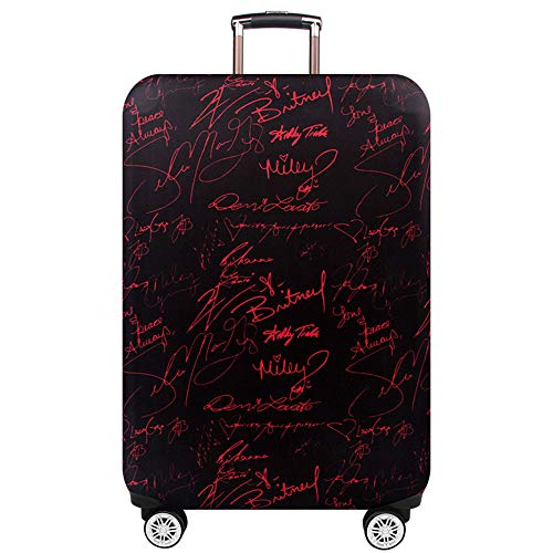 MARXHOT Polyester Koffer Staubschutz Buchstaben Doodle Print verschleißfesten elastischen Gepäck Protector mit Reißverschluss für Unisex (Multi Size),003,XL