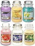 Official Yankee Candle floreale Favourites Selection box regalo set di 6Classic Signature grande barattoli immagine