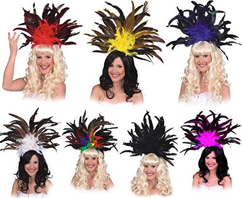 Samba Federschmuck zu sexy Tänzerin Kostüm Karneval Fasching (Samba Kostüme Karneval)
