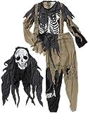Boland 87607 - Kinder-Kostüm Zombie Skelett, Größe 128-140