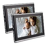 Twin 10.1 Zoll-Auto-Kopfst¨¹tze DVD-Player Ultra-Thin-HD Dual-Screen-Monitor Rear Seat Entertainment System f¨¹r Kinder mit HDMI USB SD-Anschluss Kostenlose Fernbedienung
