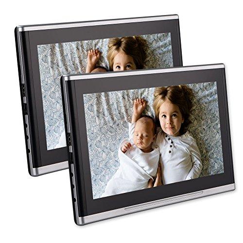 EINCAR Twin 10.1 Zoll-Auto-Kopfst¨¹TZE DVD-Player Ultra-Thin-HD Dual-Screen-Monitor Rear Seat Entertainment System f¨¹r Kinder mit HDMI USB SD-Anschluss Kostenlose Fernbedienung Rear-seat-dvd-player
