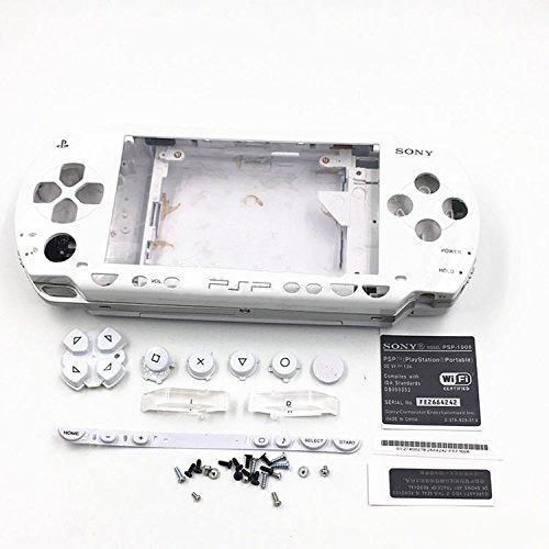 Gehäuse Case Shell Cover mit Tasten Schraubenzieher für Sony PSP 10001001weiß
