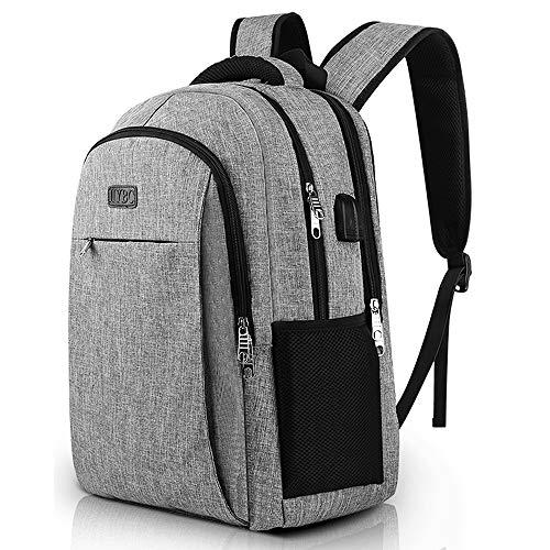 Herren Laptop Rucksack Gepolstert Computer Rucksack Wasserabweisende Reiserucksack 15,6 Zoll mit USB Ladeanschluss Schulter und Rückenpolsterung für Business Schule Frauen Männer Damen