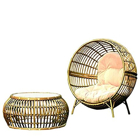 Nachahmung bambus - rattan wicker deckchair set / sonnenliege / liegestuhl / strandstuhl / gartensessel (Outdoor Glider Cuscini)