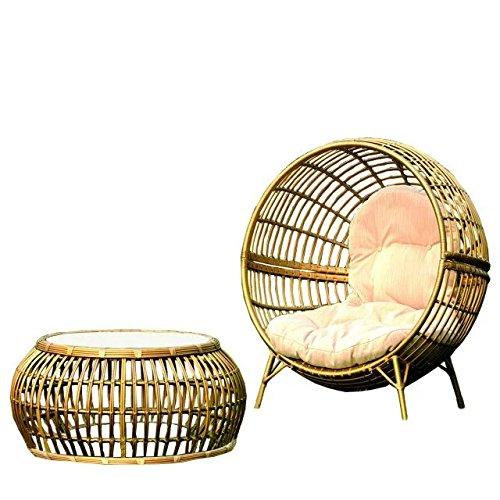 Imitazione bambù - rattan vimini sedie set / sdraio suite / chaise longue / longuer (Outdoor Glider Cuscini)