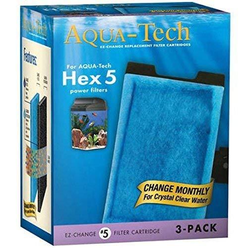 Aqua Tech HEX 5 #5 EZ Change Aquarium Replacement Filter Cartridge by AquaTech