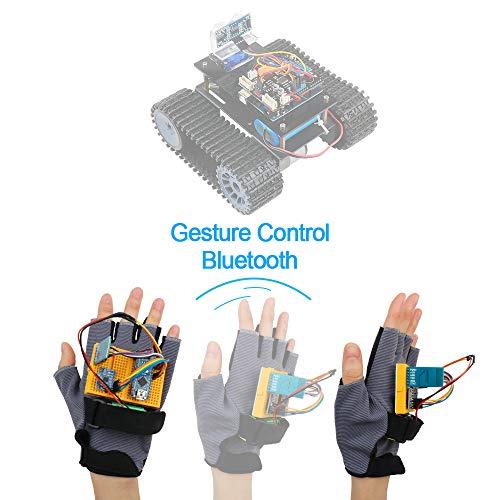 Keywish Gesture-Motion Starter Kit für Arduino Nano V3.0, Unterstützung Roboter Smart Car Mit MPU6050 6-Achsen Beschleunigungssensor-Gyroskopmodul, NRF24L01 + Wireless-Modul, Bluetooth-Modul