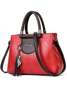 Ghlee Frauen Mode Umhängetasche Luxus Einkaufstasche Pu-leder Handtasche Handtasche Taschen