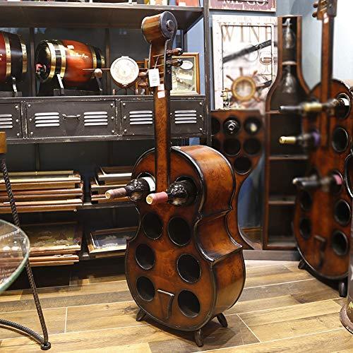 Xue-shelf Rotweinregal 8 Flaschen Gitarren Weinregal Holz Weinhalter Basis Heavy Duty Flur Weinregal 100Cm
