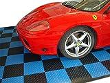 Boden Fliese Blau in PP X Werkstatt Auto Moto Terrassenfliesen antiolio-SOGI pav-01-bl