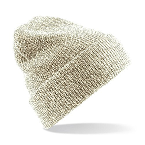 (Heritage Style Beanie Hat one size,Heather Oatmeal)
