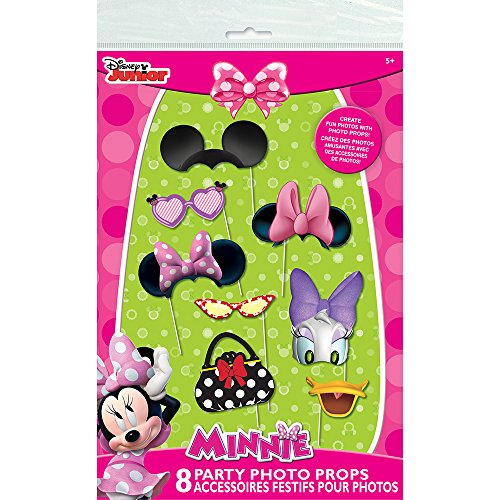 Minnie Mouse Photo Booth Props, 8pc (Mouse Photo Minnie Booth)
