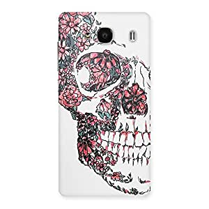 Neo World Floral Skull Back Case Cover for Xiaomi Redmi 2 Prime