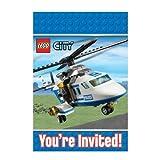 Lego City Party Party Einladungen & Umschläge x 8