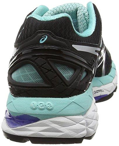 Asics Gel-Kayano 22, Chaussures de Running Compétition Femme Noir (black/onyx/pool Blue 9099)