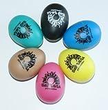 CLUB SALSA 6x Egg Shaker in verschiedenen Farben aus robustem Kunstoff im Vorteilsset - ein vielfältig einsetzbares Rhythmusinstrument (Shaker-Ei)