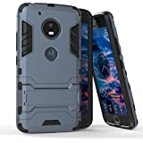 Dream2Cool Graphic Designed Kick Stand Version 3.0 Hard Dual Rugged Armor Hybrid Bumper Back Case Cover For Motorola Moto G5 [5 Inch] - Metal Grey