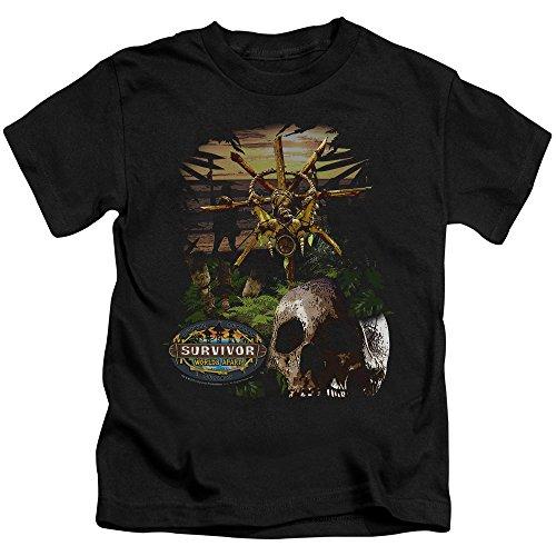 Survivor - Jugend-Dschungel-T-Shirt, Large (7), Black (Jugend-dschungel)
