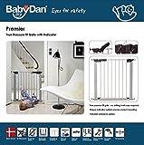 Baby Dan 60117-2693-02-85 Premier Tür / Treppenschutzgitter zum Einklemmen, 73.5 – 99.8 cm, silber / schwarz - 4