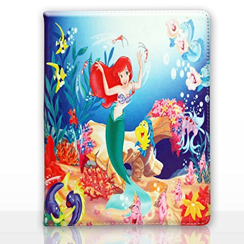 Apple iPad Air 2 (iPad 6) Folio Disney Karikatur Hülle / Schützendes PU Leder Smart Flip Hülle / iCHOOSE / Ariel - Tanzen