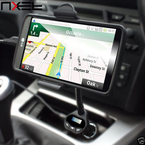 nxet® Kit per Auto Trasmettitore FM Wireless, Musica roadtune vivavoce universale per auto con caricatore USB supporto per iPhone SE/6/6S/7/Plus Samsung Galaxy Note 7/5/4/3/2/S2/S3/S4/S5/S6/S7Edge, Sony, HTC Google Nexus e più