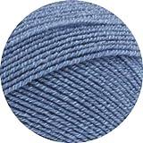 Lana Grossa Meilenweit 100 Cotton Stretch 8020 Mittelblau 100g