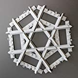 Mult Mit Lego City kompatible, maßgearbeitete Kreuzungsschiene, Kreuzung mit geraden Schienen, kompatibel mit Lego-City-Eisenbahnschienen und -Sets, mit Lego City kompatible, gerade Gleise