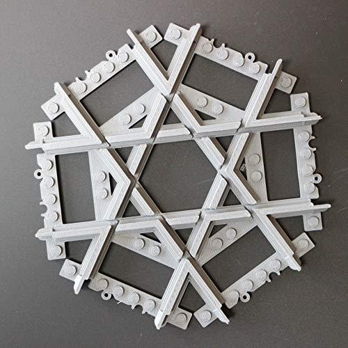 Caterpillar red multi binario a croce personalizzato compatibile, binari a croce dritta crossover compatibili con rotaie e set treni lego, accavallare, rotaie diritte compatibili con lego city