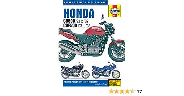 Honda Cb500 93 08 Amazon Co Uk Haynes Publishing 9781785210013 Books