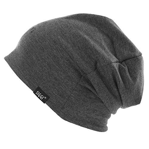 Gorro reversible de doble capa, gorra de calavera unisex para invierno para mujer y hombre al aire libre, sombreros deportivos de 55 – 60 cm, Hombre, color 89106_Grey_Printed, tamaño Taille unique