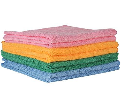 Comfit Mikrofasertuch - 40 cm x 40 cm, Achterpack. Hochwertiges Reinigungstuch für Zuhause, das Auto und Boot. Ein essentielles Reinigungstuch zum Staubwischen, für Möbel und zum Abwischen von Geräten.