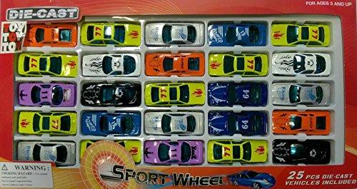 25 Spielzeugautos DIE-CAST Sportwagen