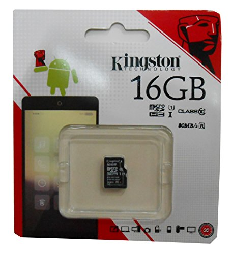 Kingston SDC10G2/16GB   Tarjeta de memoria microSD  16 GB  clase 10 UHS I  45 MB/s  color negro