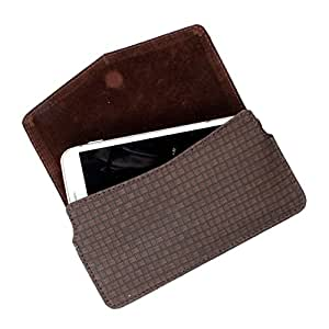 DooDa PU Leather Case Cover For HTC Desire 700 dual sim (Brown)