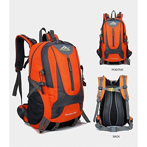 Wasserdichte Sport-Fitness-Kit Outdoor-Sport-Wandertasche Reise Bergsteigen Tasche Camping Rucksack Orange