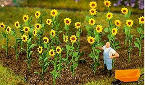 FALLER 95523 - 16 Sonnenblumen, Zubehör für die Modelleisenbahn, Modellbau