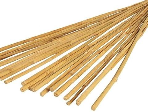 50Stück 1,2m Bambus Garten Canes, 4ft, 14–16mm Dia./Dick. Pflanze Unterstützung Polen. 120cm, 4', 1200mm