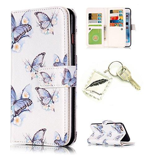 Etui Coque PU Slim Bumper pour Apple iPhone 6 Plus (5,5 pouces) Souple Housse de Protection Flexible Soft Case Cas Couverture Anti Choc Mince Légère Silicone Cover Bouchon -photo Frame Keychain #AS (6 7