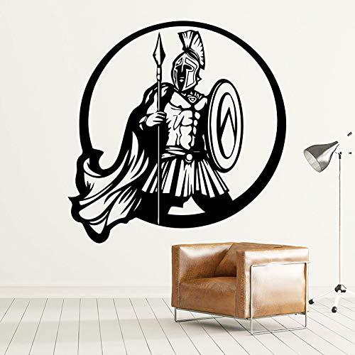 sswymx Spartan Tapete Dekoration Wandaufkleber Vinyl WohnkulturWohnzimmer Kinderzimmer Wandbild Kunst-60x60cm