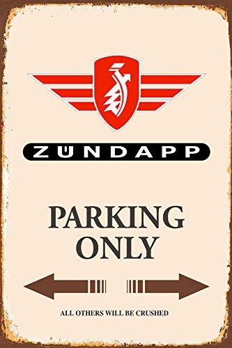 Zündapp Parking only blechschild
