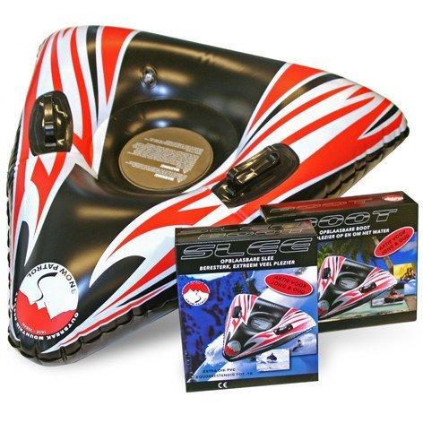 XL 2in1 Wasserreifen Wasser Tube Sport und Schnee Reifen Ring Schneering Schlitten Bob (Aufblasbarer Schlitten Für Kinder)