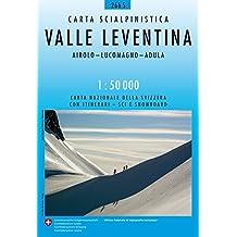 266S Valle Leventina Carta scialpinistica e per racchette de neve: Airolo - Lucomagno - Adula (Skitourenkarten 1:50 000)