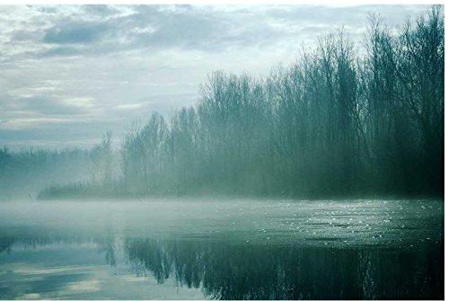 Zopix Poster Eisig Neblig Nebelhaft Fluss Kalt Wandbild - Premium (60x40 cm, versch. Größen) - 190g Premium-Papierdruck - Inklusive Poster-Stripes