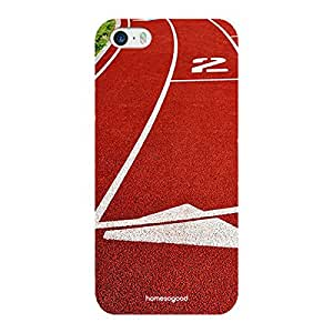 HomeSoGood Best Track for Best Athletes Maroon Case for iPhone 5 / 5S (Back Cover)