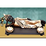 MARINER'S CREATION DIVINE RESTING BUDDHA IDOL FOR HOME DECOR,LIVING ROOM,BEDROOM,OFFICE | HOUSE WARMING GIFT | SHOWPIECE FOR HOME DECOR | STATUE FOR HOME DECOR | HOME DECOR ACCESSORIES | GIFT ITEM
